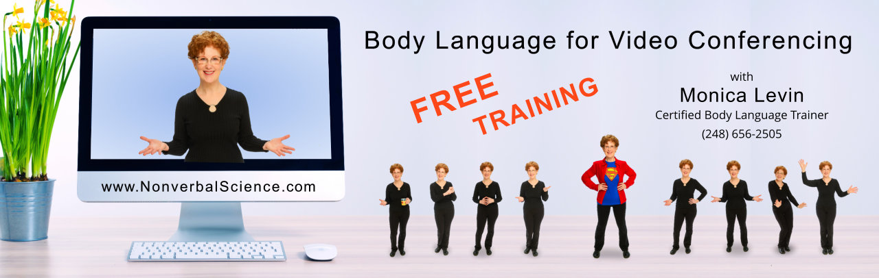 Body language for video conferencing
